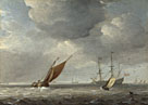 Studio of Willem van de Velde: 'Small Dutch Vessels in a Breeze'