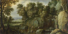 Attributed to Marten Rijckaert: 'Landscape with Satyrs'