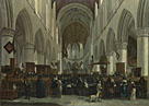 Gerrit Berckheyde: 'The Interior of the Grote Kerk, Haarlem'