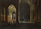 Pieter Neeffs the Elder: 'An Evening Service in a Church'
