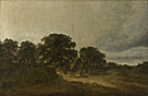 Attributed to Georges Michel: 'Landscape with Trees, Buildings and a Road'