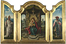 Attributed to the workshop of Pieter Coecke van Aalst: 'The Virgin and Child Enthroned'