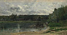 Charles-François Daubigny: 'River Scene with Ducks'