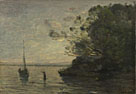 Jean-Baptiste-Camille Corot: 'Evening on the Lake'