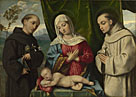 Italian, North: 'The Madonna and Child with Saints'