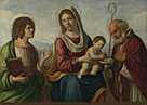 Attributed to Giovanni Battista Cima da Conegliano: 'The Virgin and Child with Saints'