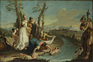 Attributed to Francesco Zugno: 'The Finding of Moses'