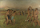 Hilaire-Germain-Edgar Degas: 'Young Spartans Exercising'
