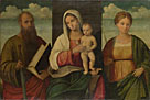 Francesco Bissolo: 'The Virgin and Child and Saints'