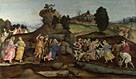 Follower of Filippino Lippi: 'Moses brings forth Water out of the Rock'