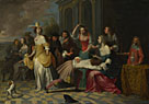 Follower of Hieronymus Janssens: 'Ladies and Gentlemen playing La Main Chaude'
