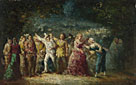 Adolphe Monticelli: 'Torchlight Procession'
