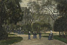 Stanislas-Victor-Edmond Lépine: 'Nuns and Schoolgirls in the Tuileries Gardens, Paris'