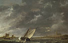 Aelbert Cuyp: 'The Maas at Dordrecht in a Storm'