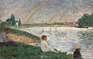 Georges Seurat: 'The Rainbow: Study for 'Bathers at Asnières''