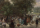 Adolph Menzel: 'Afternoon in the Tuileries Gardens'