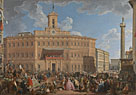 Giovanni Paolo Panini: 'The Lottery in Piazza di Montecitorio'