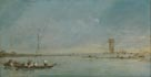 Francesco Guardi, 'View of the Venetian Lagoon with the Tower of Malghera', probably 1770s