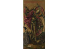 Bartolome Saint Michael triumphant over the Devil with the Donor Antonio Juan crop teachers notes