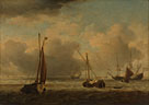 Willem van de Velde: 'Dutch Ships and Small Vessels Offshore in a Breeze'