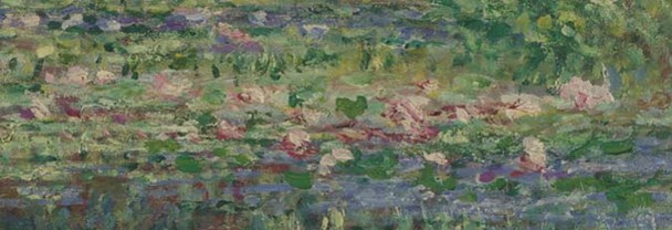 Detail from Monet, 'The Water Lily Pond', 1899