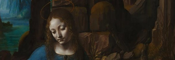 Detail from Leonardo 'The Virgin of the Rocks', about 1491/2-9 and 1506-8