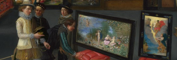 Flemish: 'Cognoscenti in a Room hung with Pictures' (detail) about 1620
