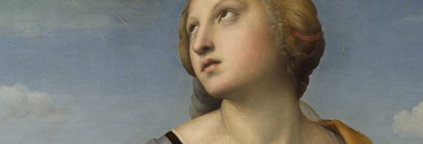 Detail from Raphael, 'Saint Catherine of Alexandria', about 1507