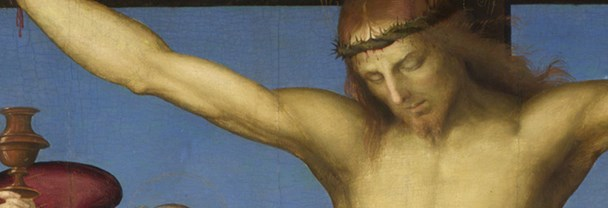 Detail from Raphael, 'The Crucified Christ with the Virgin Mary, Saints and Angels (The Mond Crucifixion)', about 1502-3