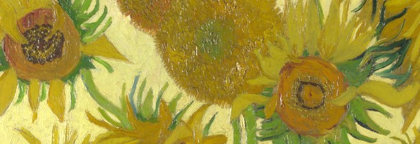 Detail from Vincent van Gogh, Sunflowers, 1888