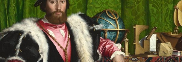 Detail from Holbein, The Ambassadors, 1533