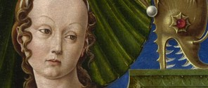 Detail from Cosimo Tura: 'A Muse (Calliope?)'