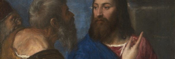 Detail from Titian: 'The Tribute Money', about 1560-8