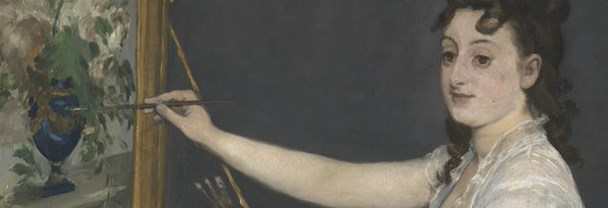 Detail from Edouard Manet, 'Eva Gonzalès', 1870
