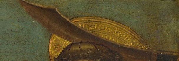 Detail from Giovanni Martino Spanzotti, 'Saint Peter Martyr and a Bishop Saint (Saint Evasio?)', 1496-1500