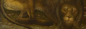 Detail from Bono da Ferrara, Saint Jerome in a Landscape, about 1440