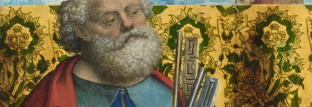 Detail from Master of the Saint Bartholomew Altarpiece: 'Saints Peter and Dorothy'