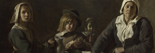 The Le Nain Brothers, 'Four Figures at a Table',about 1643