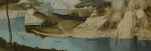 Imitator of Pieter Bruegel the Elder, 'Landscape: A River among Mountains', about 1600