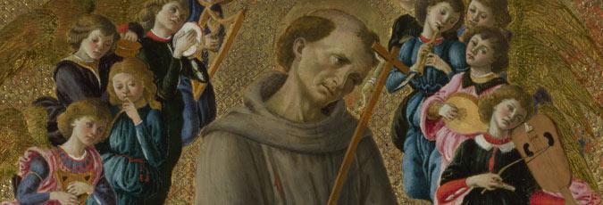 Saint Francis Of Assisi With Angels Close Examination National