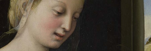 Detail from Raphael, 'The Madonna of the Pinks', about 1506-7
