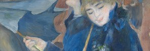 Detail from Pierre-Auguste Renoir 'The Umbrellas', about 1881-6