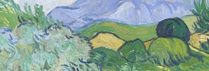 Detail from Gogh, 'A Wheatfield, with Cypresses', 1889