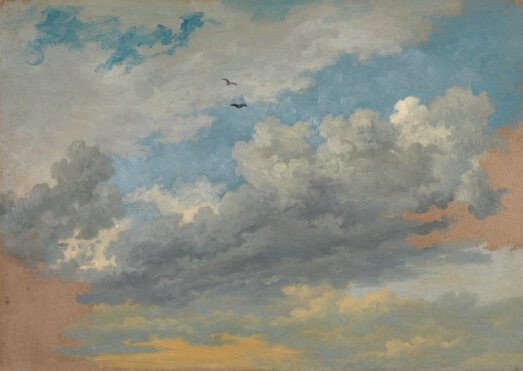 Jean Michel Cels Sky Study With Birds L808 National