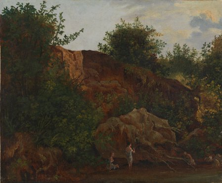 Landscape with Figures bathing