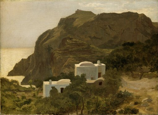 Frederic Lord Leighton View In Capri L847 National