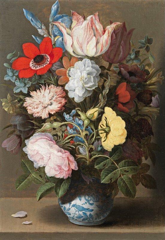 Osaias Beert The Elder Flowers In A Porcelain Wan Li Vase L1206