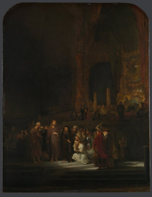 Rembrandt The Woman Taken In Adultery Ng45 National