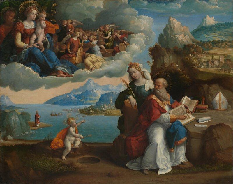 garofalo the vision of saint augustine ng81 national gallery