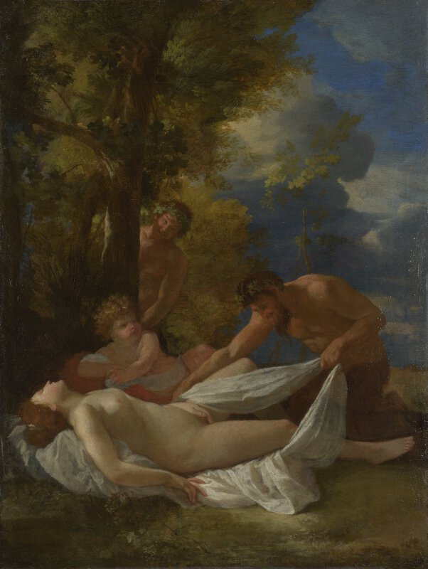 nicolas poussin nymph with satyrs ng91 national gallery london